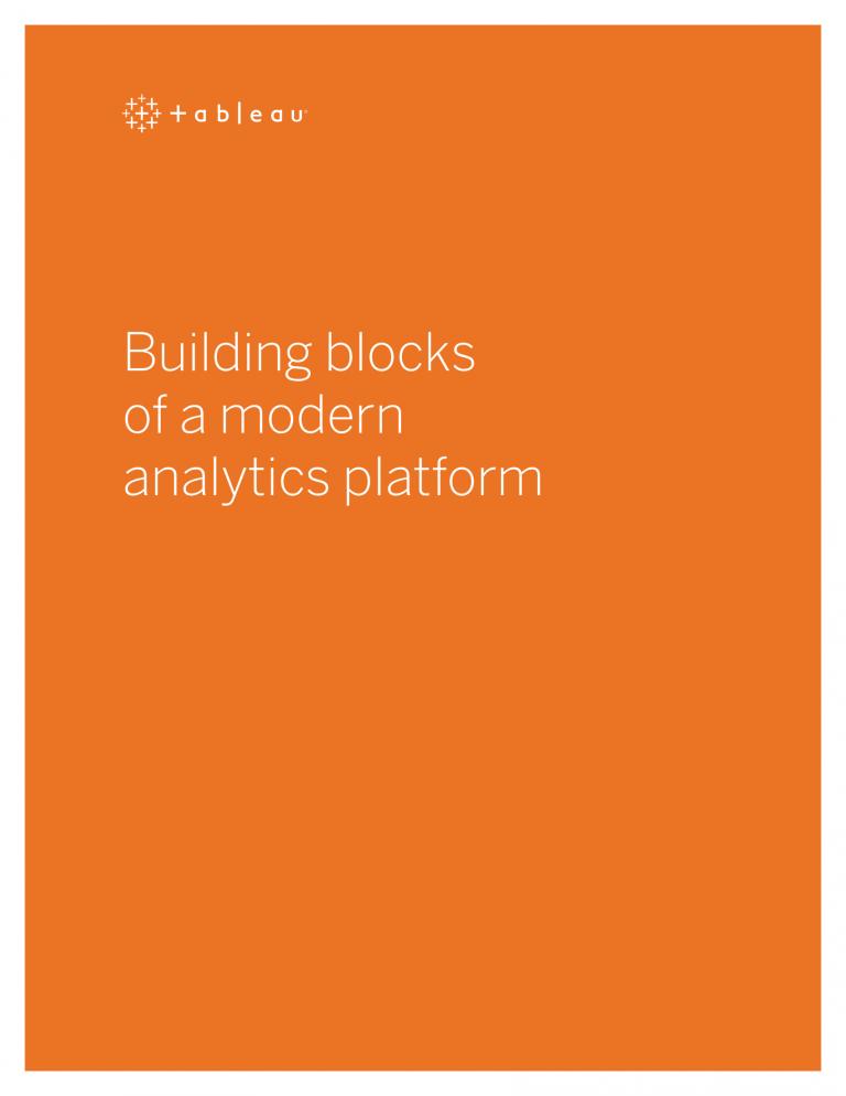 Building Blocks of a Modern Analytics Platform