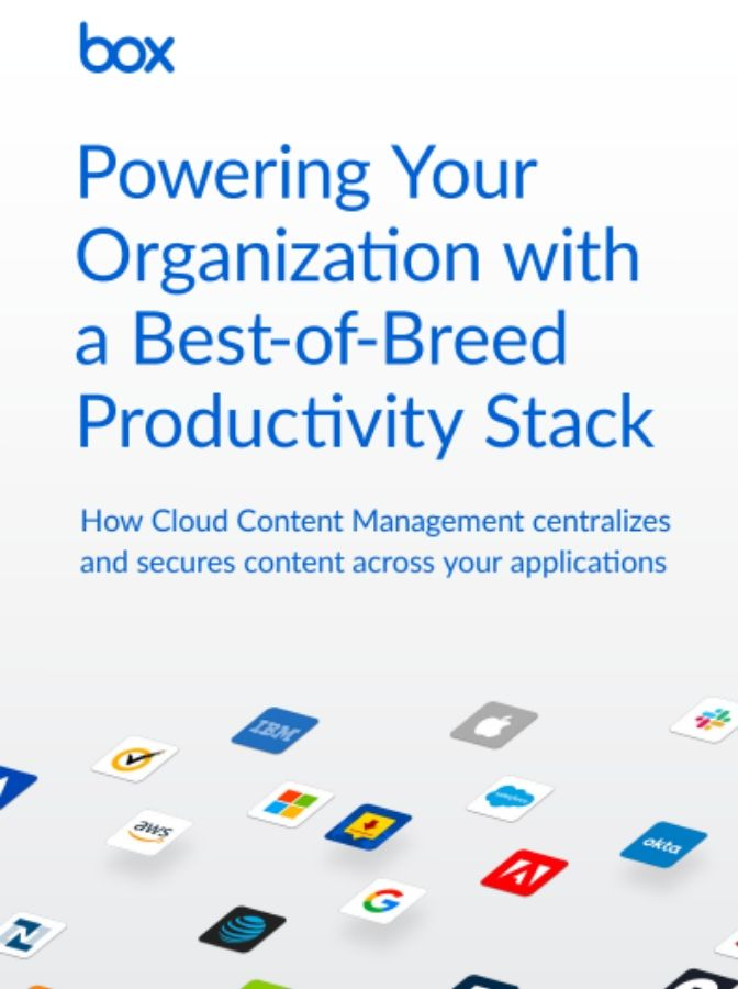Powering Your Organization With a Best-of-Breed Productivity Stack