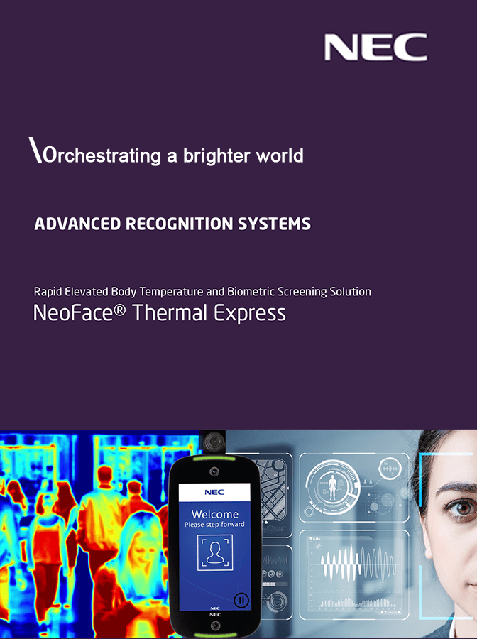 Revolutionary Face Recognition Technology – NeoFace Thermal Express