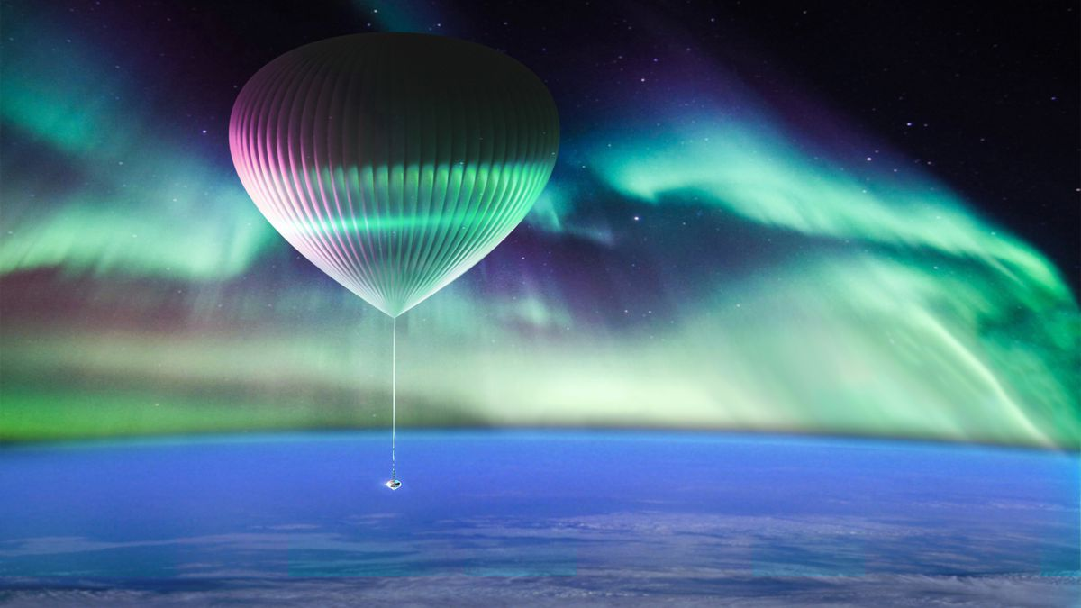 Concept image of Northern Lights experience from Spaceship Neptune (Image courtesy of Alaska Aerospace and Space)