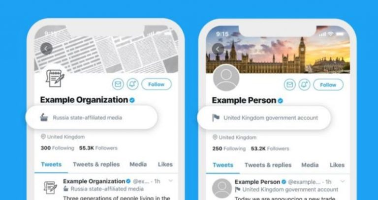Twitter to Label State-Controlled Media and Official Government Accounts